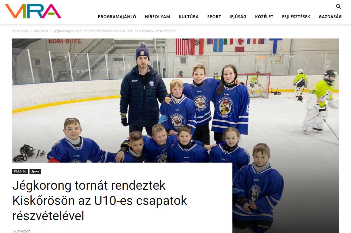 Jégkorong tornát rendeztek Kiskőrösön az U10-es csapatok részvételével