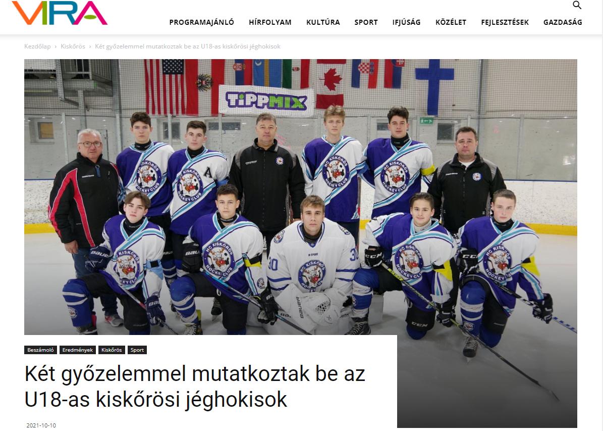 Két győzelemmel mutatkoztak be az U18-as kiskőrösi jéghokisok