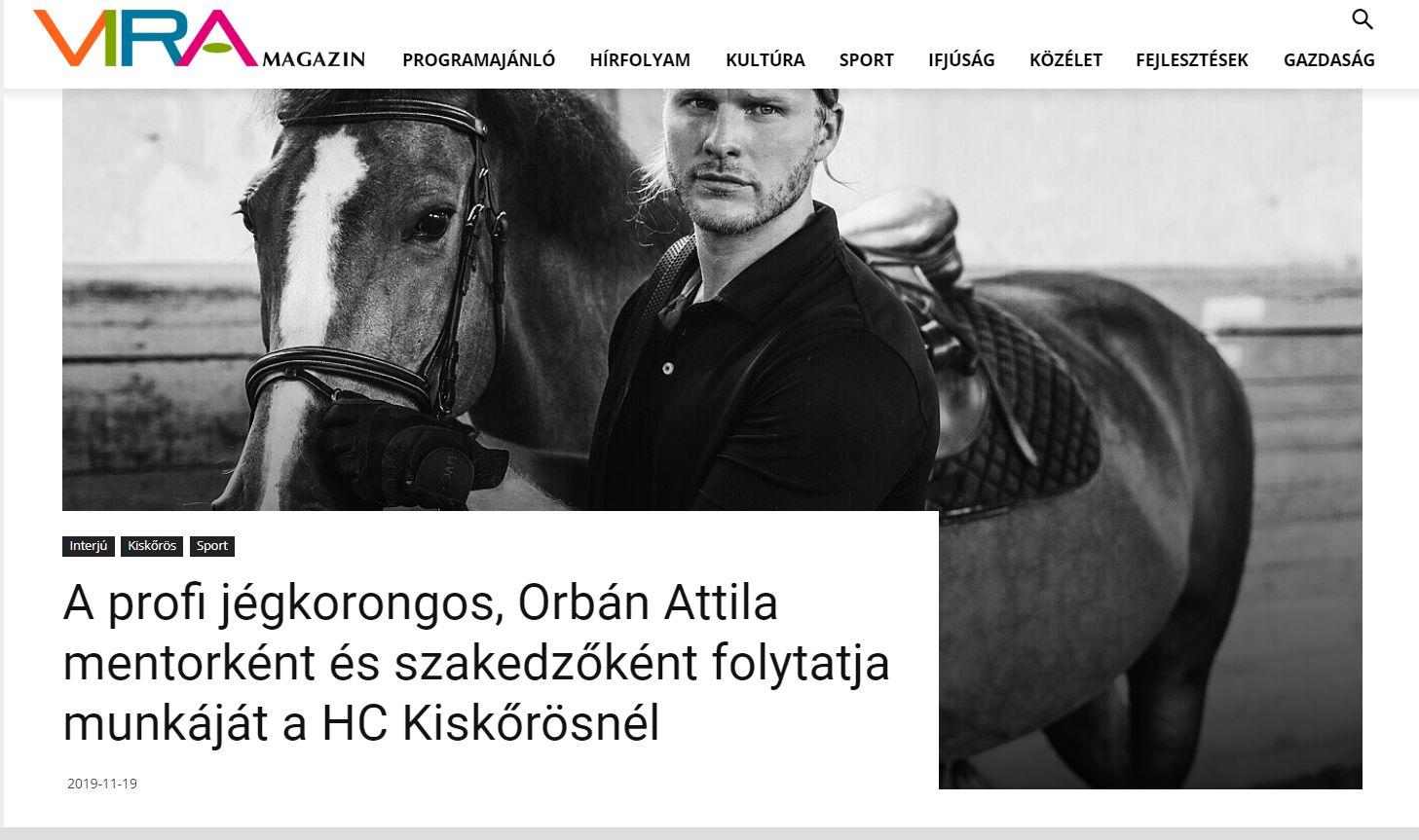 Orbán Attila mentorként és szakedzőként folytatja munkáját a HC Kiskőrösnél