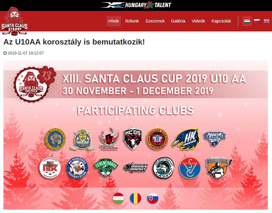 XIII. Santa Claus Cup 2019 U10 AA